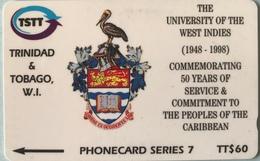 TRINITE & TOBAGO  -  Phonecard  - TSTT  - The University Of The West Indies  -  TT $ 60 - Trinidad En Tobago
