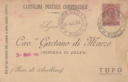 Acquaviva Delle Fonti. 1899. Annullo Guller ACQUAVIVA DELLE FONTI *BARI*, Su Cartolina Postale Commerciale - 1878-00 Umberto I