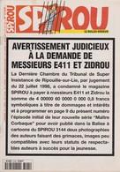 Magazine Spirou N°3145 De 1998: E411 Spirou Leloup Yoko Tsuno Le Scrameustache - Spirou Magazine