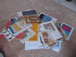 Lot De 300 Grammes  De Cartes De Vœux Publicitaires... Format Standard Et Supérieur - Cartes
