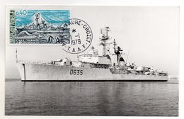 TAAF - FSAT - 1979 - CARTE MAXIMUM- E.E FORBIN KERGUELEN - BATEAUX - SHIPS - 01/01/79 A ALFRED FAURE CROZET - - Franse Zuidelijke En Antarctische Gebieden (TAAF)