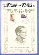 FRANCE - DOCUMENT LOUIS MARTIN BRET 1898 1944 CAD MARSEILLE ET PARIS 8 MAI 1984 - Guerre Mondiale (Seconde)