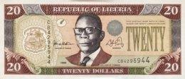 Liberia 20 Dollars, P-23a (1999) - AU - Liberia