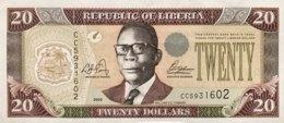 Liberia 20 Dollars, P-28a (2003) - AU - Liberia
