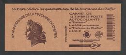 Timbre - Carnet  - 1515 -  Les Quarante Ans De La Marianne De Cheffer - Freimarke