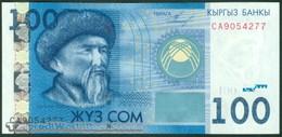 TWN - KYRGYZSTAN 26a - 100 Som 2009 Prefix CA UNC - Kirgisistan