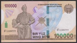 Uzbekistan 100000 Som 2019 Pnew UNC - Uzbekistan