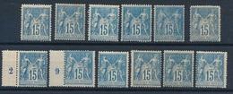 DI-664: FRANCE: Lot Avec N°101*/*CNO 1er Et 2ème Choix - 1876-1898 Sage (Type II)