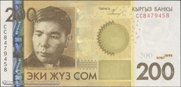 TWN - KYRGYZSTAN 27a - 200 Som 2010 Prefix CC UNC - Kirgisistan