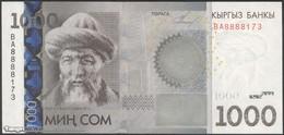 TWN - KYRGYZSTAN 29a - 1.000 1000 Som 2010 Prefix BA UNC - Kirgisistan