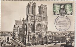 Carte-Maximum FRANCE  N° Yvert 1061 (REIMS-FLORENCE) Obl Sp 1er Jour (Cathédrale Ed CAP Pt Ft) - 1950-59