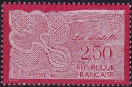 Frankreich, 1990, Mi.Nr. 2756, MNH **,  Klöppelspitzen. - Unused Stamps