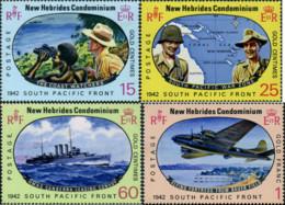 Ref. 346298 * NEW *  - NEW HEBRIDS . 1967. 25TH ANNIVERSARY OF THE BATTLE OF THE SOUTH-PACIFIC. 25 ANIVERSARIO DE LA BA - Leyenda Inglesa