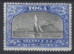 """TONGA...QUEEN VICTORIA...(1837-01)....."""" 1897 """".....2/-.....SG51a......(CAT. VALUE £32.).....NO GUM....UNUSED..... - Tonga (...-1970)"""