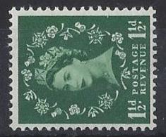 "GB....QUEEN ELIZABETH II.(1952-NOW)....."" 1958 ""....WILDINGS...1 AND HALFd.....SG572b.......WATERMARK SIDEWAYS......MNH. - 1952-.... (Elizabeth II)"