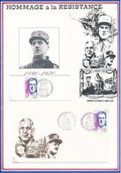 FRANCE - CARTE + ENVELOPPE 45EME ANNIVERSAIRE DE LA LIBERATION OBENHEIM 9 JUIN 1990 BM 24 - Guerre Mondiale (Seconde)