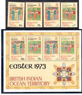 1973 - BRITISH INDIAN OCEAN TERRITORY - Mi  50/53 + BF1 - NH -  (CW1822.39) - Francobolli