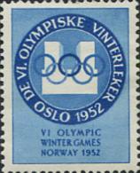 Ref. 228982 * HINGED *  - NORWAY . 1951. VI OLYMPIC WINTER GAMES. OSLO 1952. 6 JUEGOS OLIMPICOS INVIERNO OSLO 1952 - Norway