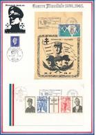 FRANCE - CARTE + ENVELOPPE QUIMPER EXPOSITION DES TIMBRES DE LA LIBERATION 7 MARS 1987 CHARLES DE GAULLE - Guerre Mondiale (Seconde)