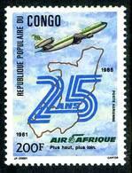 Congo Brazzaville 1986 Air Afrique 25 Ans Douglas DC-10 - Aerei