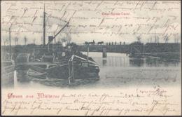 AK Gruss Aus Müllrose Oder-Spree Kanal Bahnpost, Gelaufen 1900 - Müllrose