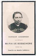 Dp. De Bosschere Maria. Dochter Van Camille En Amelia Lefebvre ° Anseghem 1868 † Anseghem 1924  (2 Scan's) - Religion & Esotericism