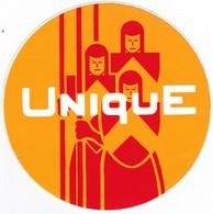 Autocollant Publicitaire - Arme UNIQUE - Orange - Stickers