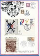 FRANCE - 2 ENVELOPPES 40EME ANNIVERSAIRE POCHE SAINT NAZAIRE BOUVRON + BAYEUX PREMIERE VILLE DE FRANCE LIBEREE - Guerre Mondiale (Seconde)