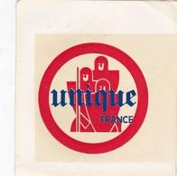Autocollant Publicitaire - Arme UNIQUE France - Blanc - Stickers