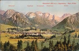 Ansichtskarte Oberstdorf (Allgäu) Panorama-Ansicht Mit Berge Und Wiesen 1909 - Oberstdorf