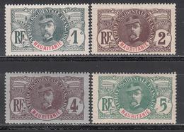 Mauritania, 1906 Yvert Nº 1, 2, 3, 4, MH - Gebruikt