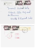 COUTRAS 33 Gironde Lettre Recommandée 3,50 F Cordouan Yv 2326 Complément EMA 6 F Ob 2 12 1985 - Briefe U. Dokumente