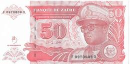 ZAIRE=1994     50  NOUVEAU ZAIRE     P-59      UNC - Zaire