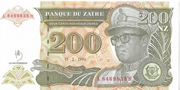 ZAIRE=1994     200  NOUVEAU ZAIRE     P-62      UNC - Zaïre