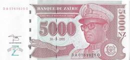 ZAIRE=1995     5000  NOUVEAU ZAIRE     P-69      UNC - Zaïre
