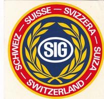 Autocollant Publicitaire - SIG - Suisse - Switzerland - Stickers