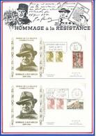 FRANCE - 2 ENVELOPPES EXPOSITION JEAN MOULIN GARE DE METZ 11 AU 20 JUIN + NE A BEZIERS EN 1899 20 JUIN 1983 - Guerre Mondiale (Seconde)
