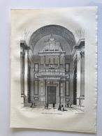 Gravure PARIS Grand Orgue De L'Eglise De La Madeleine - Vieux Papiers