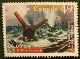 49c D-DAY: Juno Beach, Normandy 2004 (Mi 2201 YT - SG -) Used Gebruikt Oblitere CANADA KANADA - 1952-.... Règne D'Elizabeth II