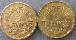 LOT De 2 Pièces De  5 Francs, Lavrillier, Castelsarrasin - France
