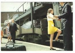 4701 - FERROVIE ITALIANE DELLO STATO TRENI TRENO AUTOCUCCETTE ANIMATA 1970 CIRCA - Treni