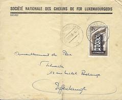 Luxembourg - Lettre - 8.12.1956 - Société Nationale Des Chemins De Fer Luxembourgeois - Entiers Postaux