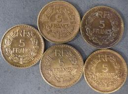 LOT De 5 Pièces De  5 Francs, Lavrillier - France