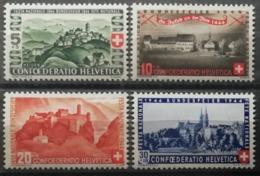 Suisse 1944 / Yvert N°395-398 / ** - Nuevos