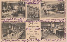 57 - SARREGUEMINES - 5 VUES - INTERIEUR DE L'HOTEL ZUM GOLDENEN PFLUG - ANTOINE KIHL - Sarreguemines