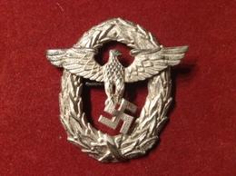 Abzeichen Hoheitszeichen WW2 Weißblech Buntmetall Adler Hakenkreuz Hohlgeprägt - 1939-45