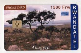 RWANDA TELECARTE REF MV CARDS RWA-C-01 1000FRW AKAGERA - Rwanda