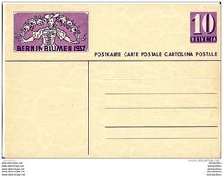 """19-30 - Entier Postal Neuf Avec Illustration """"Bern In Blumen 1937"""" - Ganzsachen"""