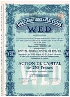Titre Ancien - Constructions & Matériaux WED - Société Anonyme - Titre De 1923 - Industrie