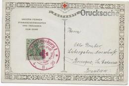 Postkarte Rotes Kreuz 1920 Als Drucksache Nach Brasilien Mit Roten Sonderstempel Charlottenburg - Croix-Rouge